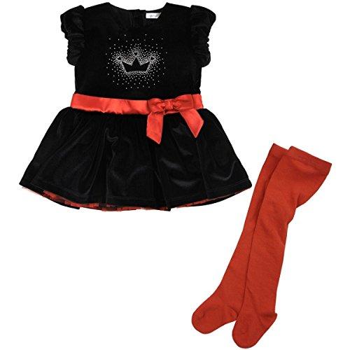 Petit Lem – Vestido de Fiesta con Estampado de Tiara y Volantes, con cinturón y Mallas, Holiday, 24…