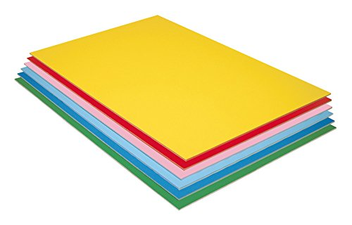 """Pacon Foam Board, 6 Assorted Colors, 20"""" x 30"""", 12 Sheets"""