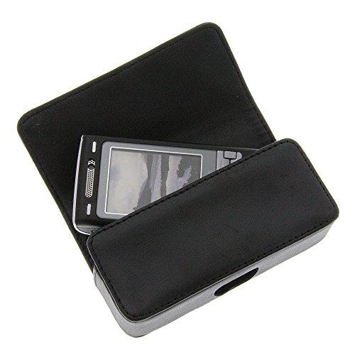 foto-kontor Tasche für Panasonic G60 VS7 KX-TU327 KX-TU328 Quertasche Handytasche Schutz Hülle schwarz