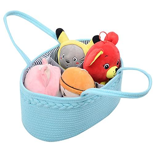 Correct Cesta De Almacenamiento Bebe Organizador De Pañales para Bebé Multifuncional Cesta De Pañales para Pañales, Lavandería, Picnic, Comestibles, Juguetes Y Canasta De Libros