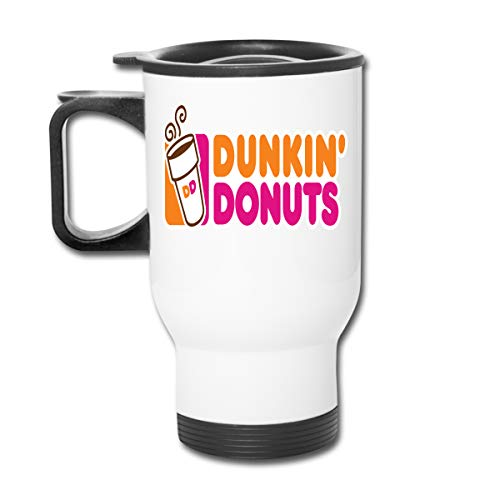 DASIDENG Dunkin Donuts Logo Classic Insulated Car Cup Travel Mug with Handle, 13 oz.