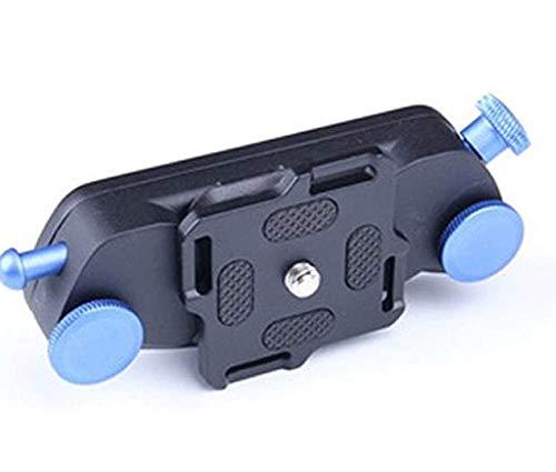 Rayber Clip para cinturón de aluminio, liberación rápida con placa y tornillos estándar de 1/4 para cámaras réflex digitales, color azul