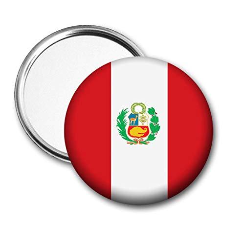 Peru Vlag Pocket Spiegel voor Handtas - Handtas - Cadeau - Verjaardag - Kerstmis - Stocking Filler - Secret Santa