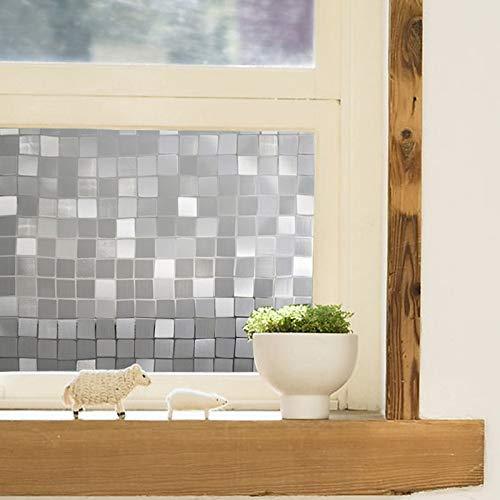 Película de privacidad de Ventana de Vidrio Opaco Esmerilado,Utilizada para la Etiqueta de Vidrio de la Ventana,Etiqueta de la Ventana del baño de decoración del hogar D 50x100cm