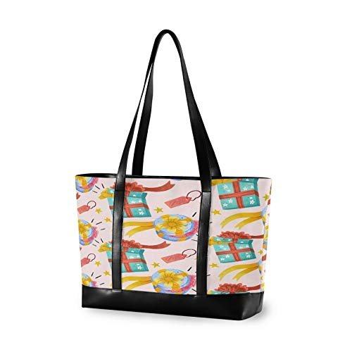 Watercolor Christmas Gift 14 15 15.4 15.6 inch Laptop Tote Bag for Women Large Lightweight and waterproof Computer Handbags Laptop Shoulder Messenger Bag