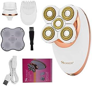 ماكينة إزالة الشعر - ماكينة حلاقة كهربائية للنساء 3 في 1 لإزالة الشعر قابلة لإعادة الشحن بدون أسلاك دقيقة بدون ألم لشعر ال...