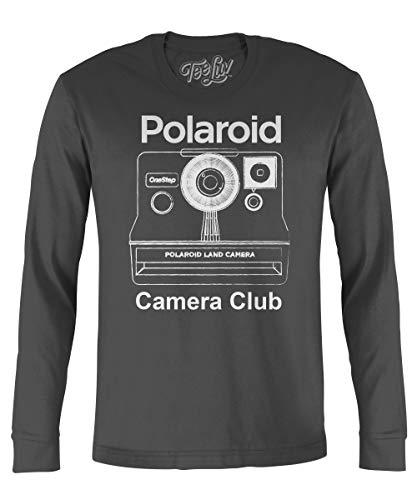 Long Sleeve Polaroid OneStep Land Camera Shirt, S to XXL