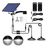 SUNVP Solar Shed Lights Outdoor IP65 Waterproof Solar Led Pendant Lights with 32 LED Lights and 2 Remote Control Easy-to-Install Solar Lights with 19.68ft Cord, for Garden, Indoor(Coldwhite)