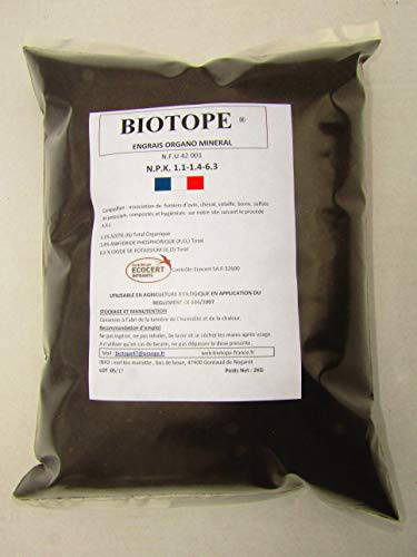 Biotope Engrais Universel Naturel Organo-Mineral 2kg