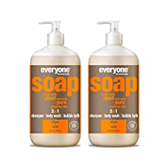 Contains (2) 32-ounce recyclable bottles Scent: We blend bright, awakening orange and sharp, cool peppermint pure essential oils in this uplifting blend with just a touch of soothing lavender Use: For use as shampoo, body wash, and bubble bath Clean ...