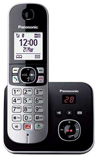 Panasonic KX-TG686 Teléfono Fijo Inalámbrico Digital (Bloqueo Llamadas Automáticas, Contestador Automático, Manos Libres, Modo No Molestar, Distintos Tonos de Llamada, Agenda, Monitor de Bebes) Negro