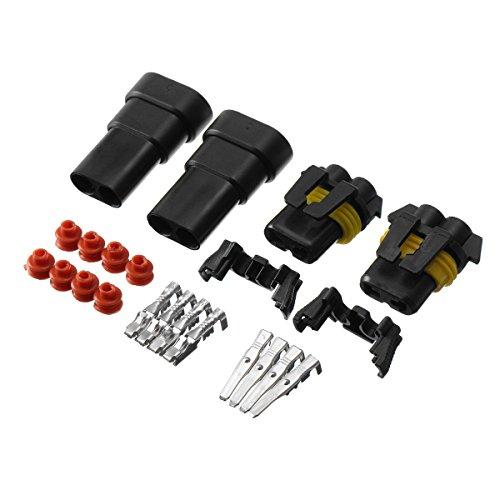 ILS - 2 Stücke 9005 9006 HB4 HB3 Female Birne Terminals Stecker Male HID Xenon Licht Socket Plug Set