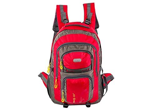 Mochila de viaje para portátil, bolsa de trabajo, ligera, resistente al agua, mochila de negocios, mochila escolar, regalo para hombres y mujeres, mochila de viaje, rosso, Talla única