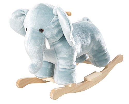 roba Schaukelelefant, Schaukeltier 'Elefant' mit weicher Stoff-Polsterung, Schaukelsitz für Kleinkinder, Schaukelspielzeug ab 18 Monate