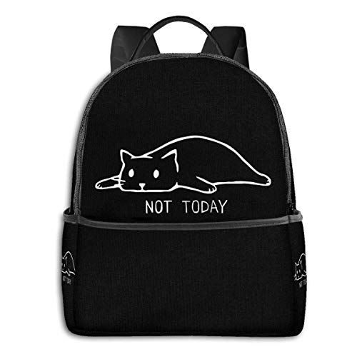 IUBBKI Mochila lateral negra Mochilas informales Zwinz If Cats Could Text You Back - They Wouldn't Funny Cat Backpack