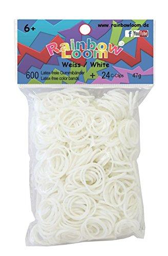 Rinbow Loom 22079 - Original Gummibänder, weiß