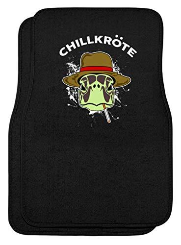 SPIRITSHIRTSHOP grappige chillkröte schildpad - roken smoke chillen saufen party bier alcohol saufen - automatten -eenheidsmaat-zwart