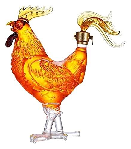 HAOKTSB Decantador de Vidrio Decantador de Whisky Decantadores de Vino Licor - Forma de Pollo Jarrafa for Licor, Scotch, Borbón Licorera