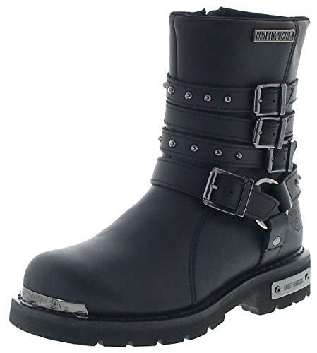 FB Fashion Boots Damen Biker Boots D86021 Eddington CE Engineerstiefel Schwarz 38 EU inkl. Schuhdeo