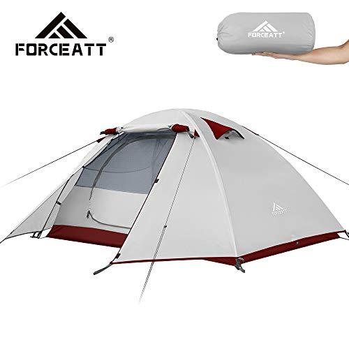 Forceatt Camping-Zelt für 2 Personen, professionell, wasserdicht, Winddicht und schädlingssicher, leicht, geeignet für Outdoor und Reisen