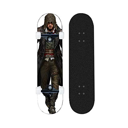 Yizhi Longboard Standard Skateboard Assassin'S Creed Jacob Frye Pattern Beginners Scooter Adulto Boys and Girls Professional Patinetas