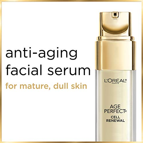 41Xg0jjOxTL - Skincare Age Perfect Cell Renewal Golden Face Serum, Anti-Aging Serum to Refine, Exfoliate and Replump Mature Dull Skin, 1 fl oz