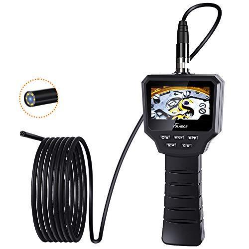 Volador Digitale Industrie Inspektionskamera, 3,0 Zoll 3,0 Megapixel 1080P HD IPS Schwer LCD Endoskopkamera, Eingebaute 1800-mAh-Akku Endoskop, 5,5MM