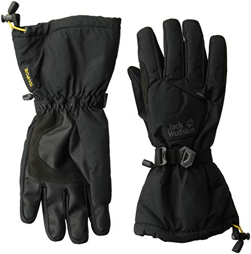 Jack Wolfskin Texapore Exolight Waterproof Insulated Ski With Gauntlet Gloves, Black, Small