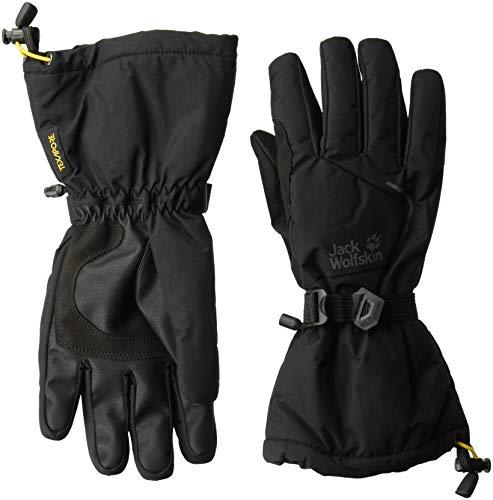 Jack Wolfskin Texapore Exolight Waterproof Insulated Ski With Gauntlet Gloves, Black, X-Large