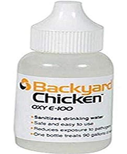 Backyard Chicken OXY E100, 30 Milliliters, Treats 90 Gallons of Water