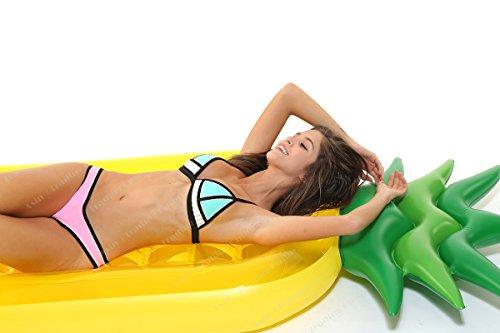 Tante Tina Ananas Luftmatratze - XXL Schwimm Matratze als Badeinsel für den Pool - Wasser Schwimmring groß - Riesen Schwimmreifen aufblasbar in Gelb