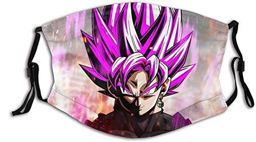 Anime japonés DBZ Super Saiyan Rose Goku pasamontañas negro hombres mujeres máscara facial con filtro ajustable hecho en EE.UU.