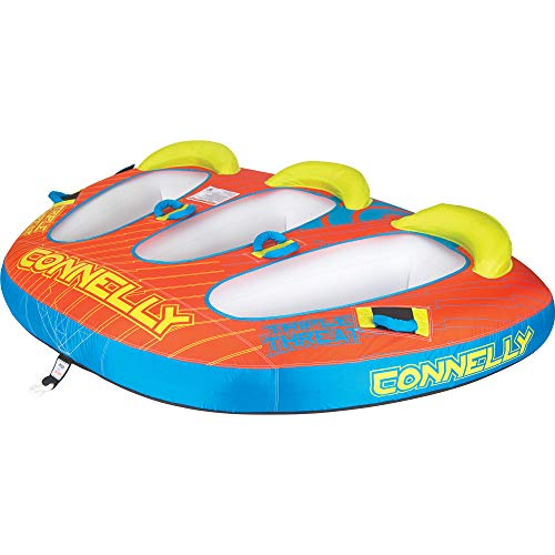CWB Connelly Triple Threat 3 Person 66x90 Inch Partially Covered Cockpit Style Inflatable Boat Towable Water Inner Tubing Tube