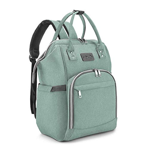 Baby Diaper Backpack for Mom Baby Diaper Changing Bags wit Stroller Straps, Cyan