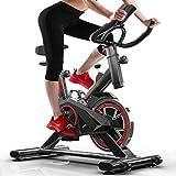 Bicicleta de ejercicio para interiores con correa directa, resistencia a la fricción, manillar ajustable y asiento resistente, bicicleta de carreras de fitness para uso en el hogar y en el gimnasio
