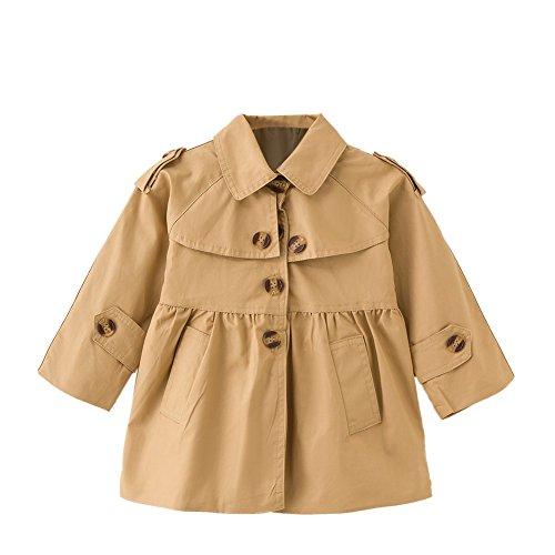Gabardina para niñas pequeñas Gabardinas Princess Autumn Windbreaker Outwear para niños de 2 a 6 años
