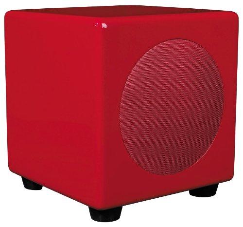 Scandyna MicroPodSubwoofer compacte subwoofer (100 Watt, 1 stuks) rood