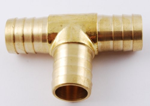 3/4' Hose ID, Hose Barb Tee T Union Fitting Intersection/Split Brass