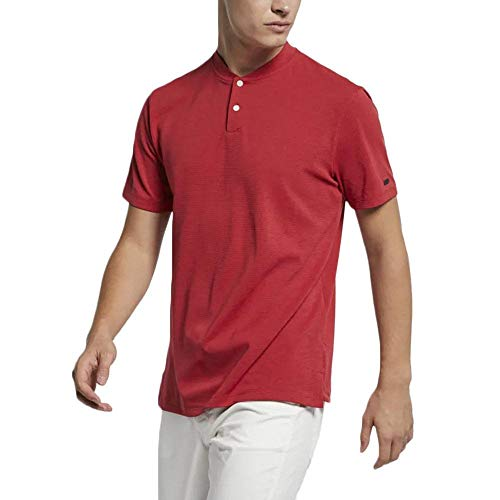 Nike Men's TW Vapor AeroReact Blade OLC Golf Polo (Gym Red, Large)
