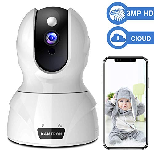Security Camera 1536P Pet Camera - KAMTRON WiFi Wireless Home Camera Full HD 3MP IP Video...