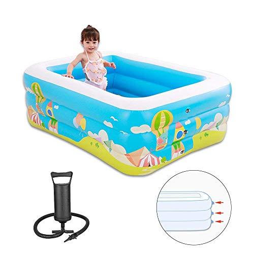 Kinderen Opblaasbare Zwembaden Water Sports Toys Baby Van De Familie Opblaasbaar Zwembad Met Handmatige Luchtpomp Voor Outdoor Garden Paddling