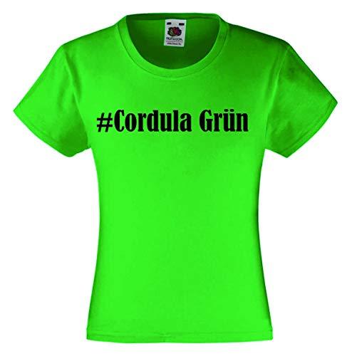 T-Shirt #Cordula Grün Größe XL Farbe Grün Druck Schwarz