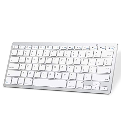SPARIN Bluetooth Keyboard for iPad 8th Generation, iPad Air 4, iPad 7th Gen, iPad 9.7, iPad Pro and Other Bluetooth Enable iPads, White