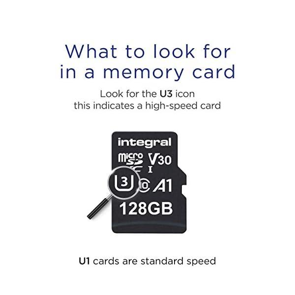 Integral INMSDX128G - Tarjeta de Memoria Micro SDXC de Alta Velocidad 128 GB con Adaptador SD
