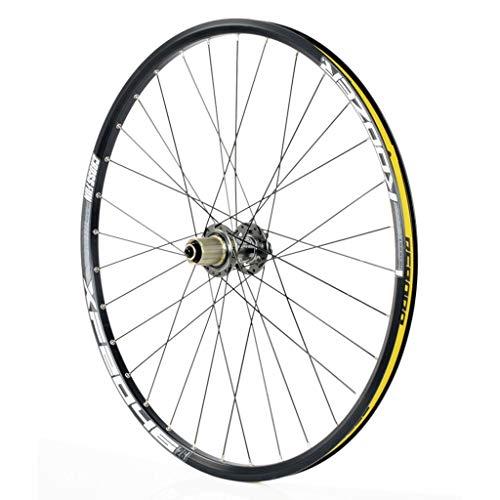 MZPWJD Ruota Posteriore Bici 26/27,5 Pollici Ruote per Mountain Bike Doppio Muro Cerchio MTB Racing QR Freno A Disco 32H 8 9 10 11 velocità (Color : Gray, Size : 27.5inch)