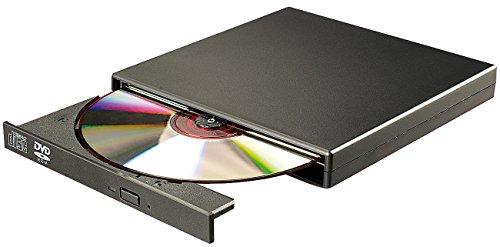 Xystec Externes DVD- & CD-ROM-Laufwerk 8/24x, Super-Slim, USB 2.0