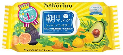 SABORINO Morning Face Mask 32 Sheets, 0.77 Pound