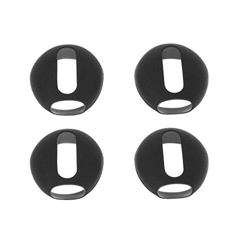 ECMQS 2 Paar ultradünnes Silikon Earbuds Tipps Cover Ohrpolster für Apple AirPods iPhone X 8 7 6 6 S Plus 5 5S SE EarPods (Schwarz)