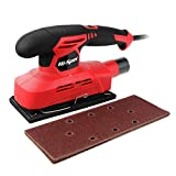 Hi-Spec 1.3A 150W Corded 12,000rpm 1/3' Sheet Orbital Finishing Sheet Sander with 10 Piece Sand Papers for DIY Medium to Fine Sanding Down, Smoothing & Finishing of Wood