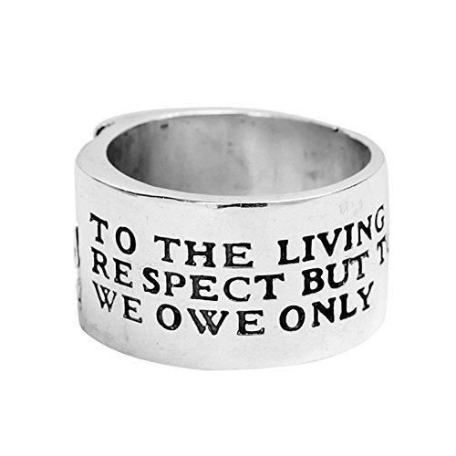 Blisfille 925 Ring Vintage Ring Herren Mit Gravur Silber 925Er Silberring Mit Halbkopffür Herren Ringgröße 64 (20.4)